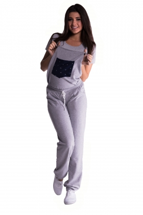 Maternity cotton dungarees