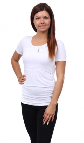 Maternity and nursing blouse with short sleeve 47
